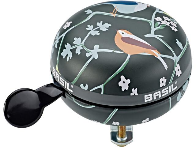 Basil Wanderlust Big Bell Sonnette de vélo 80mm Ø, charcoal
